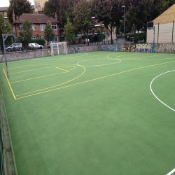 Line Marking Basketball Surfaces in Black Muir 3