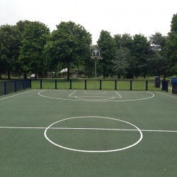 Basketball Court Installation in Aberavon 2