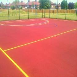 Line Marking Basketball Surfaces in Abercwmboi 11