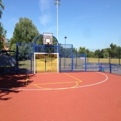 Line Marking Basketball Surfaces in Ainley Top 4