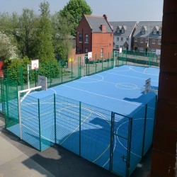 Basketball Court Installation in Aldborough 12