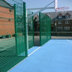 Line Marking Basketball Surfaces in Black Muir 10