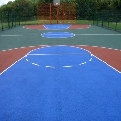 Line Marking Basketball Surfaces in Black Muir 8