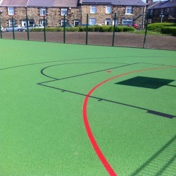 Line Marking Basketball Surfaces in Black Muir 7