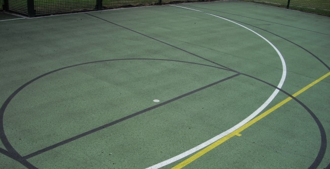 MUGA Sports Markings in Abercwmboi