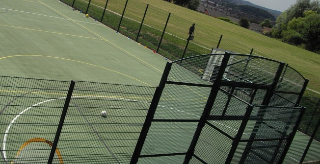 Basketball Facility Fencing in Abbeycwmhir