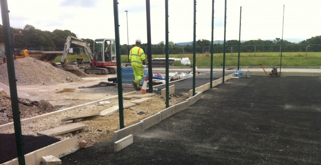 Basketball Court Installation in Derbyshire
