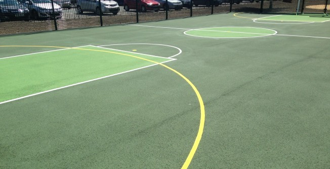Sports Court Painting in Abercegir