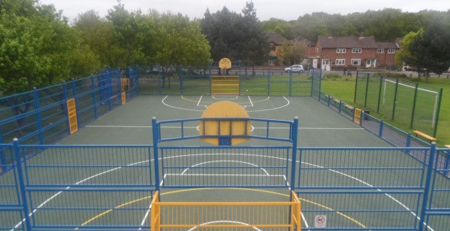 Basketball Fencing Designs in Ashby by Partney