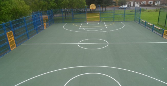 Basketball Court Contractors in Abbey Hey