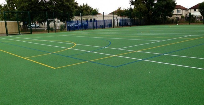 Basketball Court Area Size in Aisthorpe