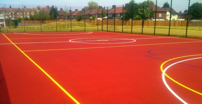 Basketball Surface Lines in Black Muir