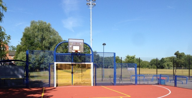 Basketball Surface Installers in Abergorlech
