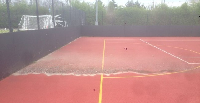Basketball Surface Maintenance in Abbots Bromley