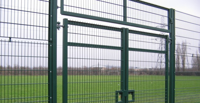 Sports Court Fencing in Ashby by Partney