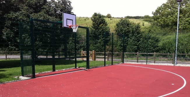 Basketball Court Surfacing in Abergynolwyn