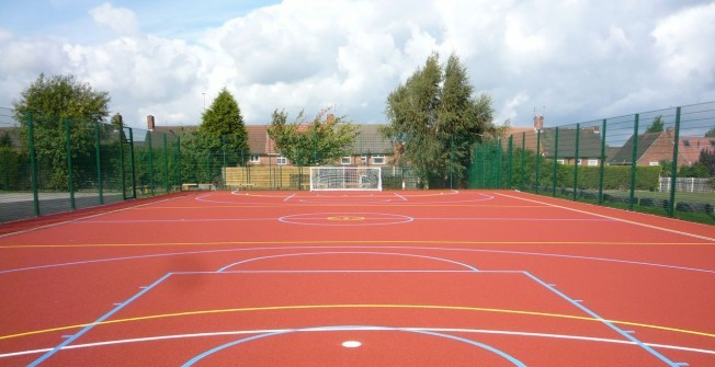 MUGA Surface Types in Abergynolwyn