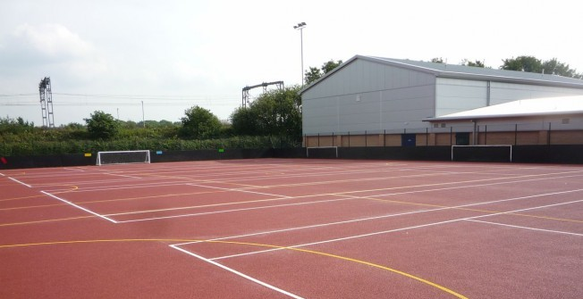 Basketball Surface Installations in Staffordshire